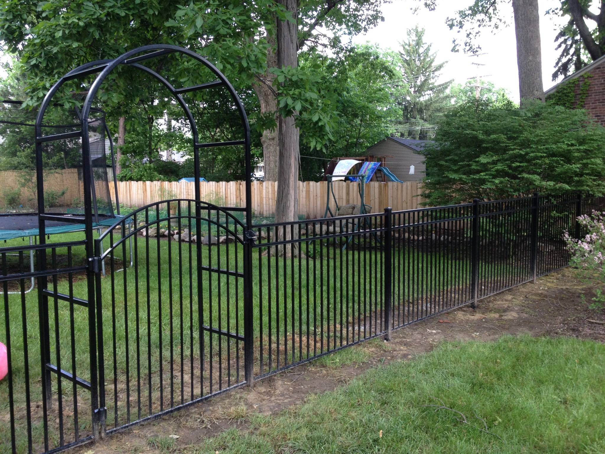 wire fence gate. Aluminum Fence, Gate And Arbor Wire Fence