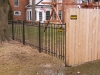 Aluminum Fence with Arched Gate, Birmingham