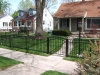 Aluminum Fence with Arched Gate, Royal Oak