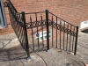 Wrought Iron Railing with Rings and Finials