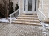 Aluminum Railing with Top Rings and Volutes