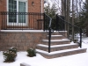 Heavy Duty Aluminum Railings with Rings and Volutes, Rochester Hills