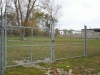 6' Industrial Galvenized Gate and Fence with Barbed Wire, Clawson