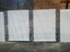 6' Commercial Galvanized Chain Link Fence with White Vinyl Slats for Semi-Privacy