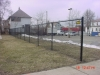 Industrial Black Vinyl Covered Chain Link 6' Fence, Detroit