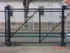 6' Black Galvanized Heavy Duty Cantilever Fence with Additional Gate Support