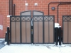 Iron Frame with Solid Panels, Gate Enclosure, Restaurant