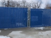 Galvanized Chail Link Fence with Vinly Slats Enclosure, Mullins Contracting