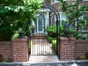 Custom Wrought Iron Pedestrian Arched Gate/Arbor with Ornamental Designs