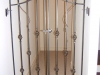 Custom Interior Arched Iron Hallway Gate, with Basket/Grape Details