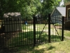 Double Aluminum Arched Garden Cantilever Gate with Spears