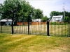 Wrought Iron Custom Fence with Finials