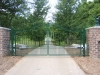 Wrought Iron Double Driveway Gate, Rochester Hills