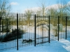 Wrought Iron Fence with Arbor and Gate, Clarkston