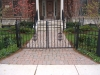 Wrought Iron Double Pedestrian Gate, Bloomfield Hills
