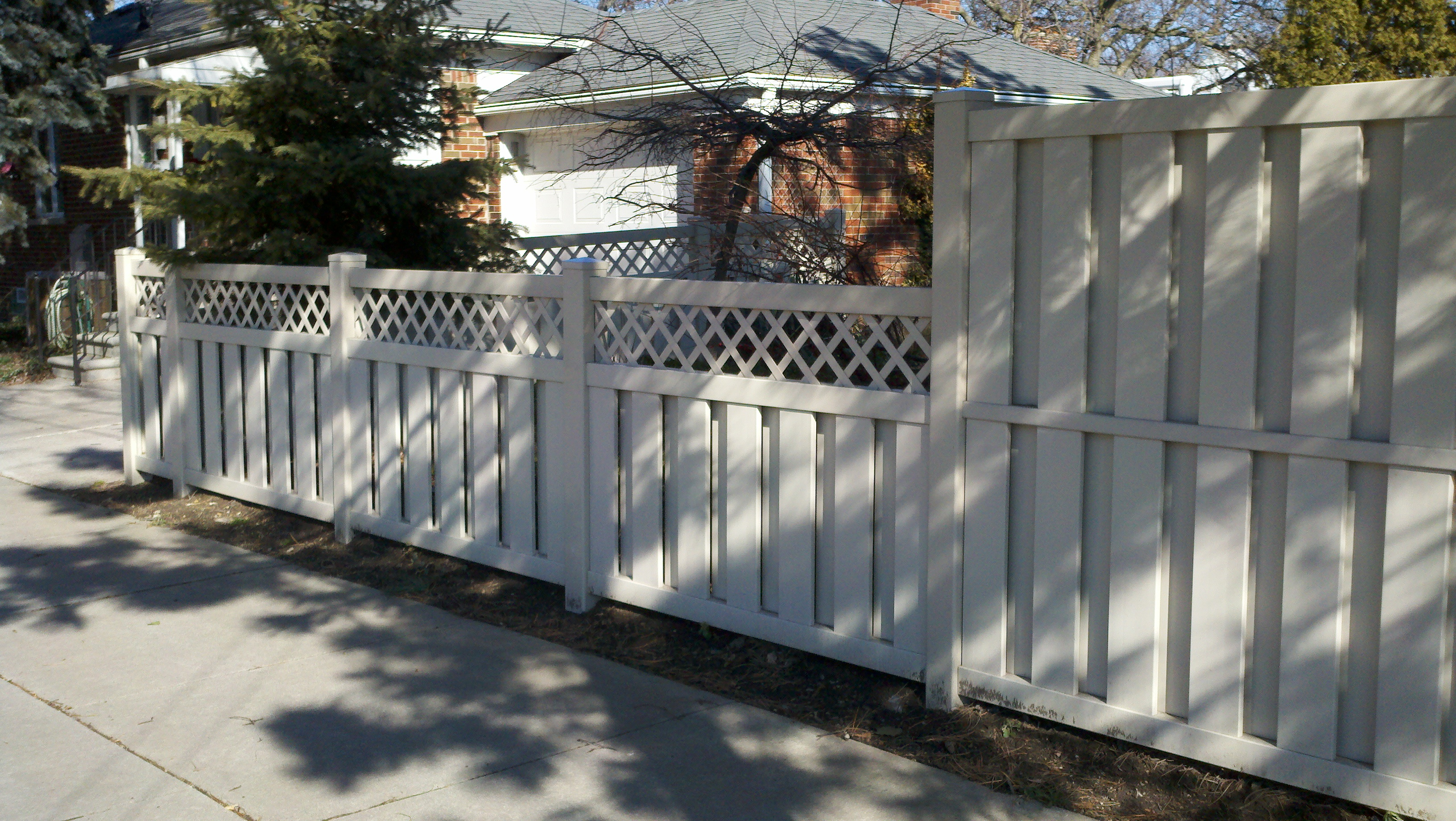 Shadow Box Fence with Lattice Top http://troyfence.com/pvc-fence/