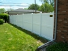 White Kingston Vinyl Privacy Fence with Flat Post Caps