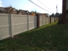 Tan Galveston Privacy Fence with Flat Post Cap Style