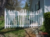 White New England Vinyl Concave Picket Fence