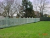 White Vinyl New England Concave Style Picket Fence