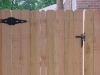 Western Red Cedar Solid Fence and Gate, Dog Eared Style