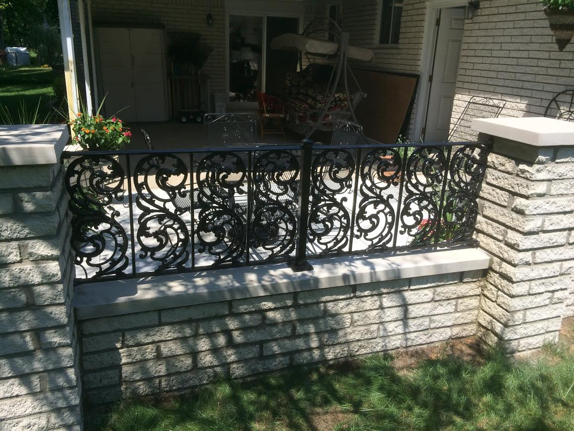 Aluminum Railings With Bird Of Paradise Castings Shelby