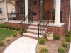 Wrought Iron Railings, with Volute and Rings, Birmingham