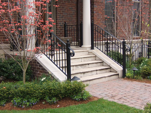 wrought iron railings with volutes rings and scrolls birmingham